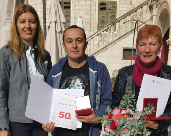 Nagrađeno četvero jubilarnih darivatelja krvi iz Knina