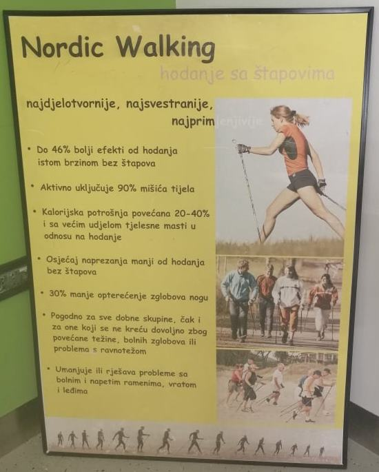 """Nordijsko hodanje u sklopu programa očuvanja i prevencije bolesti projekta """"Aktivni zajedno"""" UP.04.2.1.09.0005 (23.10.2020.)"""