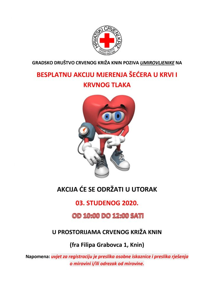 """Mjerenje šećera i krvnog tlaka u sklopu programa očuvanja i prevencije bolesti projekta """"Aktivni zajedno"""" UP.04.2.1.09.0005 (03.11.2020.)"""