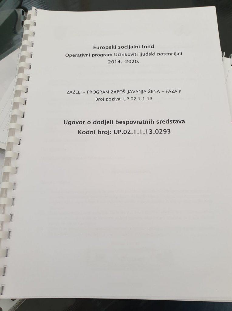 """Potpisan novi projekt pod nazivom """" Zapošljavanje žena sa područja Knina, Biskupije, Kijeva i Civljana II"""""""