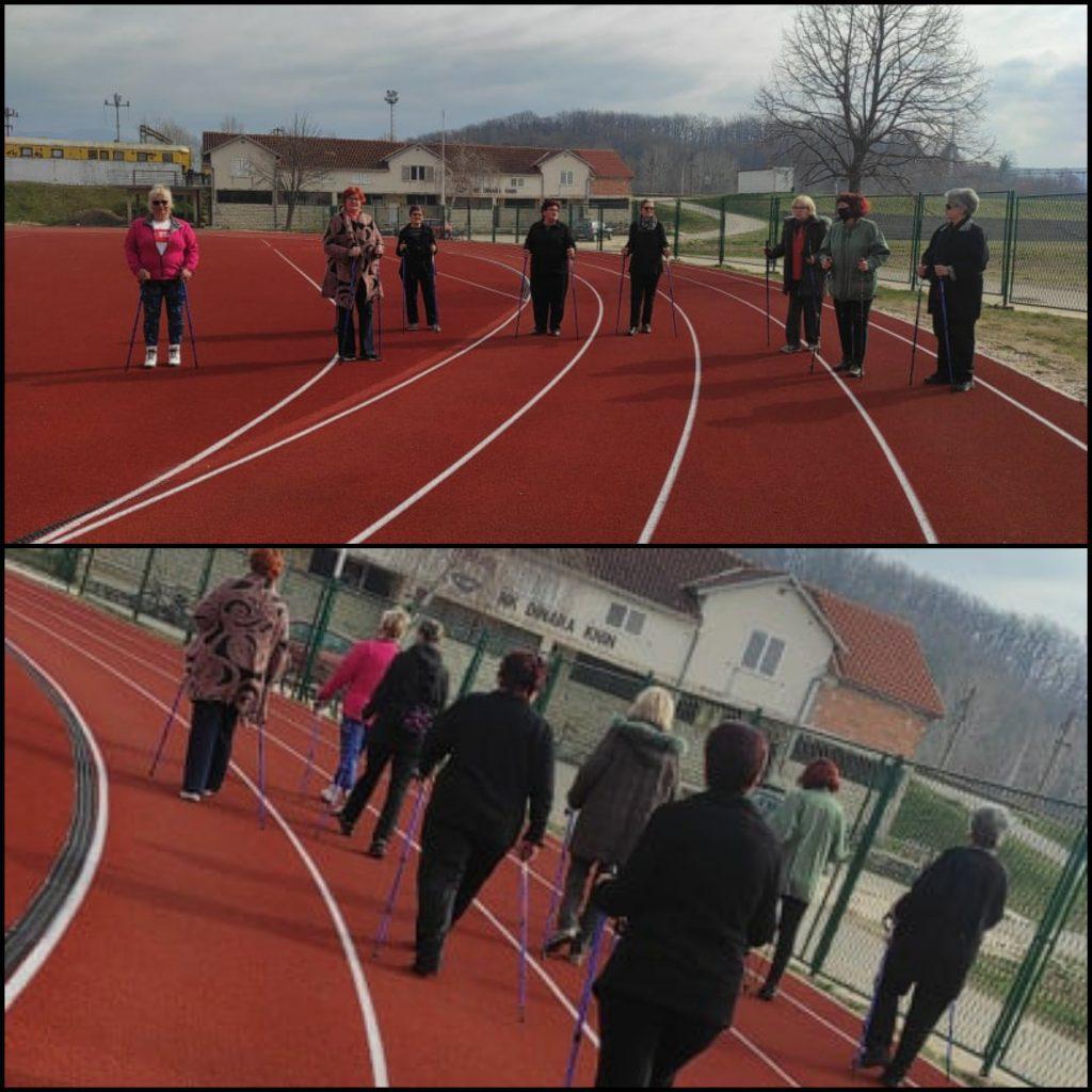 """Održana 16. radionica nordijskog hodanja u sklopu programa očuvanja i prevencije bolesti projekta """"Aktivni zajedno"""" UP.04.2.1.09.0005 (05.03.2021.)"""