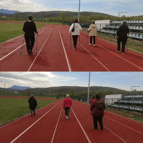 """Održana 22. radionica nordijskog hodanja u sklopu programa očuvanja i prevencije bolesti projekta """"Aktivni zajedno"""" UP.04.2.1.09.0005 (23.04.2021.)"""