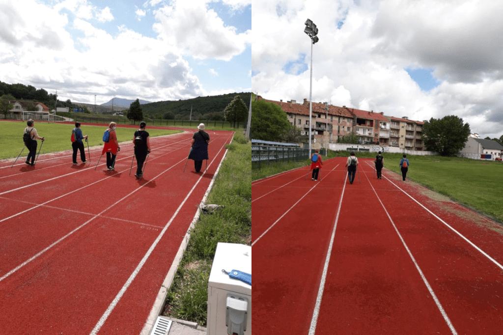 """Održana 25. radionica nordijskog hodanja u sklopu programa očuvanja i prevencije bolesti projekta """"Aktivni zajedno"""" UP.04.2.1.09.0005 (14.05.2021.)"""