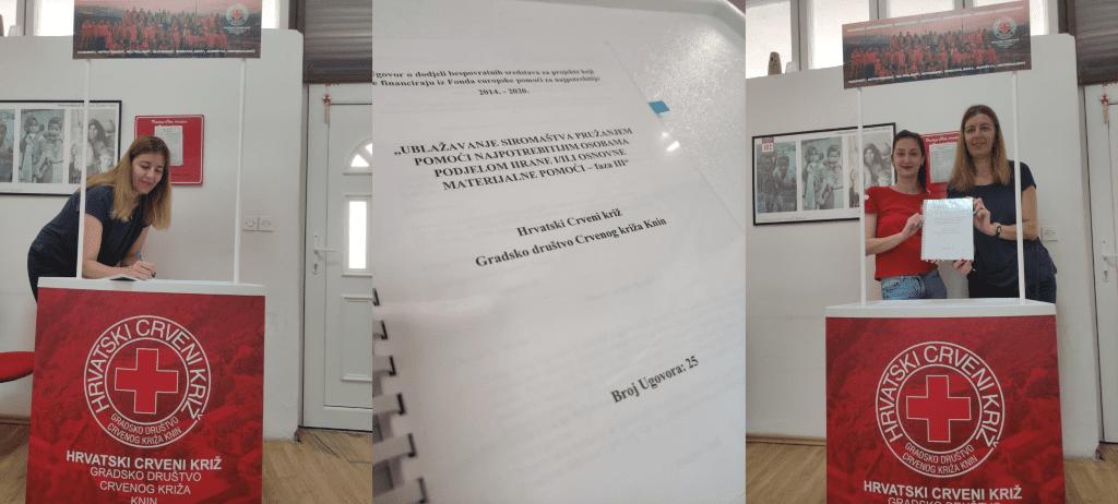 """Crveni križ Knin povukao 4.159.996,57 kn u sklopu projekta """"Humanitarni paketi za gradove Knin, Drniš i Vodice"""""""