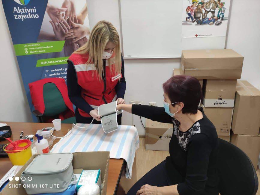 """Mjerenje šećera i krvnog tlaka u sklopu programa očuvanja i prevencije bolesti projekta """"Aktivni zajedno"""" UP.04.2.1.09.0005 (18.08.2021.)"""